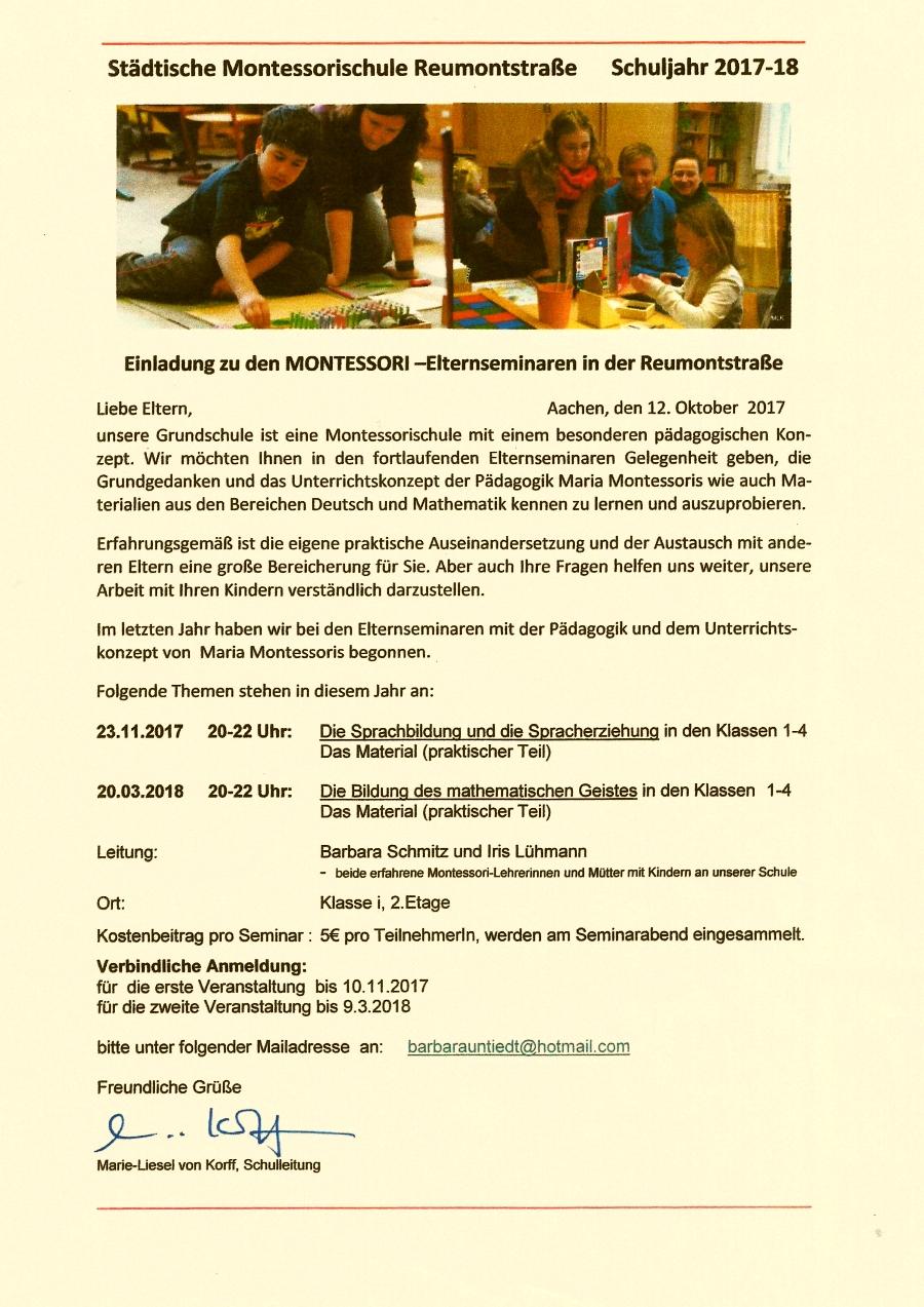 www.aachener-montessori-forum.de Angebote und Aktionen